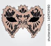 hand drawn decorative carnival... | Shutterstock . vector #160953980