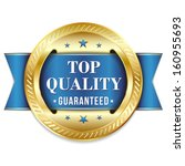 blue gold top quality badge... | Shutterstock .eps vector #160955693