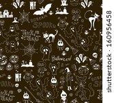 halloween seamless background   Shutterstock .eps vector #160956458
