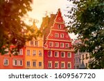 wroclaw old town houses in...   Shutterstock . vector #1609567720