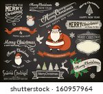 christmas design elements and...   Shutterstock .eps vector #160957964