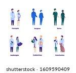 doctor team concept. vector... | Shutterstock .eps vector #1609590409