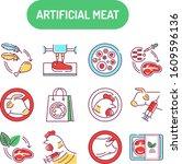 artificial meat color line...