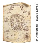 ancient pirate map. pirate...   Shutterstock . vector #1609612966