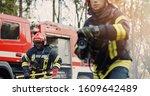 Two Firefighters In Fire...