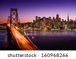 san francisco skyline and bay... | Shutterstock . vector #160968266