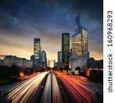 paris ladefense at sunset   la... | Shutterstock . vector #160968293