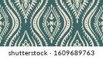 geometric folklore ornament... | Shutterstock .eps vector #1609689763