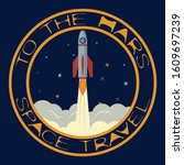 t shirt on the space theme....   Shutterstock . vector #1609697239