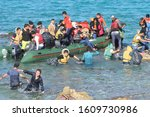 Small photo of TURKEY, Turkey Aegean- January 05, 2016: Syrian migrants were trying to flee to Europe because of the civil war. They wanted to take refuge in Greece then to the center of Europe