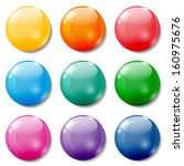 set of glossy colored buttons... | Shutterstock .eps vector #160975676