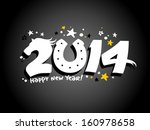 Happy 2014 year design with horse. - stock vector