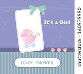 raster baby shower card  for... | Shutterstock . vector #160979990