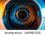 video camera lens closeup | Shutterstock . vector #160981520