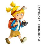cartoon child isolated  ... | Shutterstock . vector #160981814