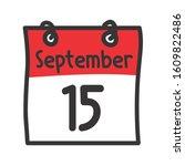 15 September. Vector Flat Daily ...