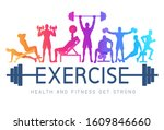 exercises conceptual design.... | Shutterstock .eps vector #1609846660