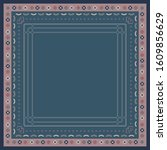 ethnic silk scarf pattern.... | Shutterstock .eps vector #1609856629