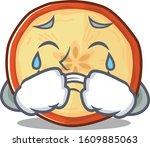 Sad Of Apple Chips Cartoon...