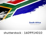 brush painted grunge flag of... | Shutterstock .eps vector #1609914010