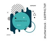 blue geometric shape background.... | Shutterstock .eps vector #1609941769