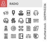Radio Icon Set. Collection Of...