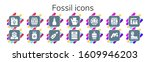 fossil icon set. 14 filled...   Shutterstock .eps vector #1609946203