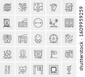 25 universal icons vector... | Shutterstock .eps vector #1609959259