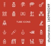 editable 22 tube icons for web... | Shutterstock .eps vector #1609960249