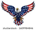 american eagle with usa flags | Shutterstock .eps vector #1609984846