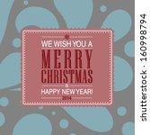 vector elegant merry christmas... | Shutterstock .eps vector #160998794