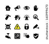 web icon set   danger  fire ... | Shutterstock .eps vector #160999670