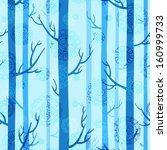 winter seamless texture in blue ... | Shutterstock .eps vector #160999733