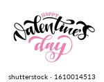 love you   valentines day   you ... | Shutterstock .eps vector #1610014513