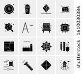 business icon set. 16 universal ... | Shutterstock .eps vector #1610030386