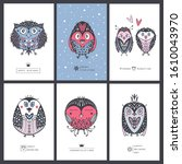 collection greeting cards with... | Shutterstock .eps vector #1610043970
