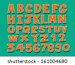 vector real hand drawn letters... | Shutterstock .eps vector #161004680