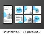 social media post templates set ... | Shutterstock .eps vector #1610058550