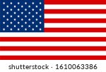 united states flag. vector... | Shutterstock .eps vector #1610063386