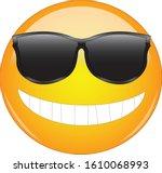 cool emoji in sunglasses.... | Shutterstock .eps vector #1610068993