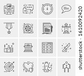 16 business universal icons... | Shutterstock .eps vector #1610092420