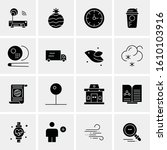 16 business universal icons... | Shutterstock .eps vector #1610103916