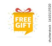 free gift sign and tag. box...   Shutterstock .eps vector #1610115520