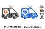ambulance car composition of... | Shutterstock .eps vector #1610128093
