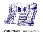 sketching illustration  the... | Shutterstock . vector #1610130973