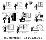house home environment problems ... | Shutterstock .eps vector #1610136016