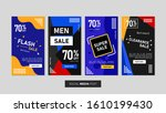 sale mobile template collection ... | Shutterstock .eps vector #1610199430