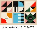 set of backgrounds with trendy... | Shutterstock .eps vector #1610226373