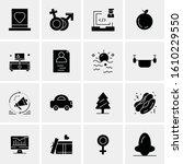 business icon set. 16 universal ... | Shutterstock .eps vector #1610229550