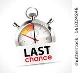 stopwatch   last chance | Shutterstock .eps vector #161024348